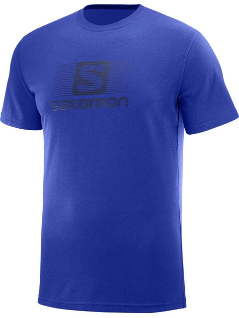 Salomon Blend Logo Bluzka z krótkim rękawem Mężczyźni niebieski